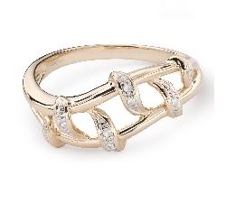 "Kultasormukset timanteilla ""Life 39"""