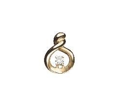 "Gold pendant with brilliant ""Classic 55"""