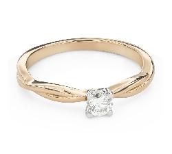 """Engagement ring with brilliant """"Intertwined destinies 63"""""""