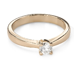 """Engagement ring with brilliant """"Goddess 196"""""""