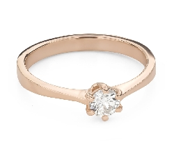 """Engagement ring with brilliant """"The queen 75"""""""