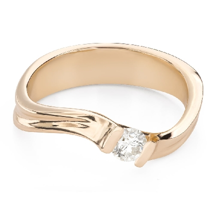 """Engagement ring with brilliant """"Hurricanes 43"""""""