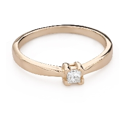 """Engagement ring with brilliant """"Princess 129"""""""