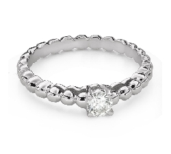 """Engagement ring with brilliant """"Strength 145"""""""