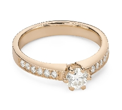 """Engagment ring with brilliants """"Grace 155"""""""