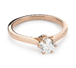"""Engagement ring with brilliant """"The only one 153"""""""