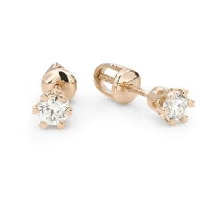 """Gold earrings with brilliants """"Classic 69"""""""