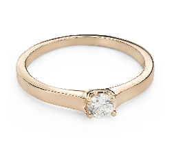"""Engagement ring with brilliant """"The queen 120"""""""