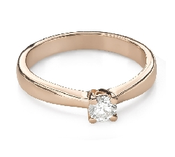 """Engagement ring with brilliant """"Goddess 252"""""""
