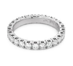 "Kultasormukset briljanteilla ""Diamond ribbon 58"""