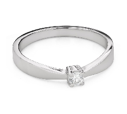 """Engagement ring with brilliant """"Goddess 267"""""""