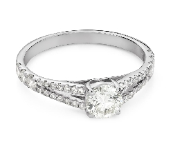 """Engagement ring with brilliant """"Embraced 34"""""""