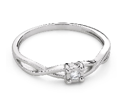 """Engagement ring with brilliant """"Intertwined destinies 75"""""""