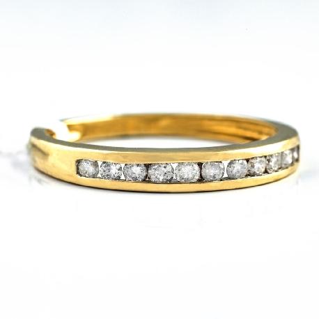 "Kultasormukset briljanteilla ""Diamond ribbon 12"""